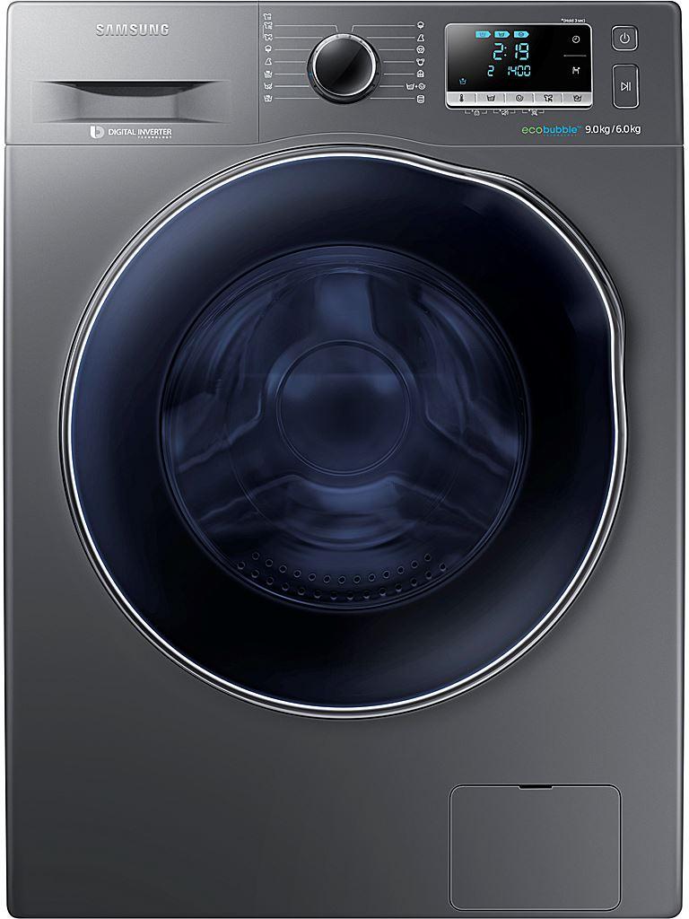 Svart tvättmaskin